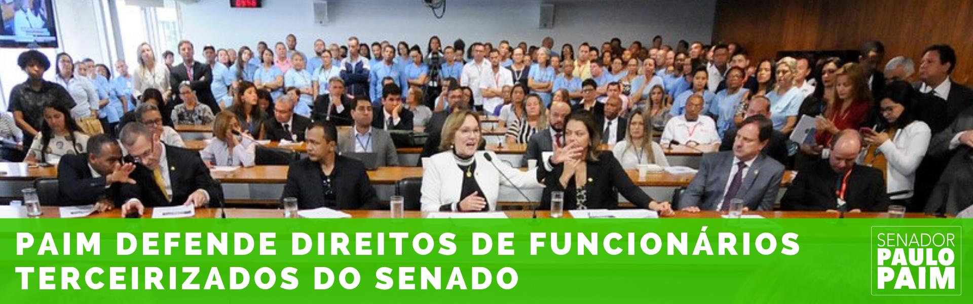 Paim defende direitos de funcionários terceirizados do Senado